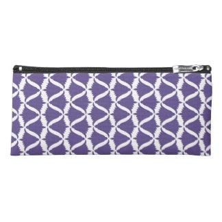 紫外紫色の鐘花草原のホタルブクロ ペンシルケース