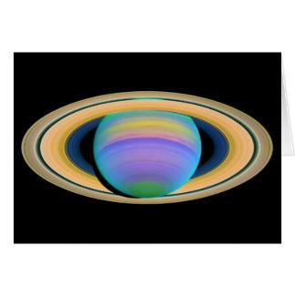 紫外線に見られるように惑星の土星の環 カード