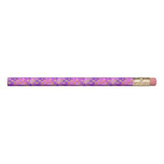 紫外線、モダン、紫色、ピンク、金ゴールド、円形、triang 鉛筆