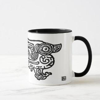 紫禁城のドラゴン11ozのコンボのマグ マグカップ