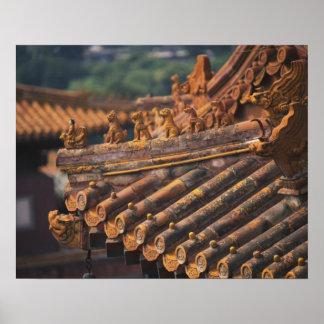 紫禁城の建築詳細、 ポスター