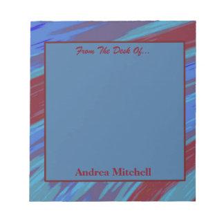 紫系統のモダンな棒の抽象芸術 ノートパッド