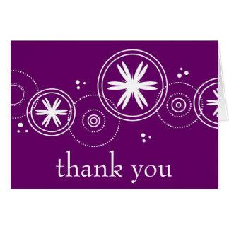 、紫色ありがとう カード
