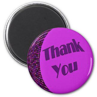 紫色ありがとう マグネット