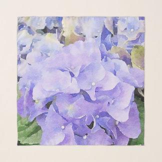 紫色およびすみれ色の水彩画のアジサイ スカーフ
