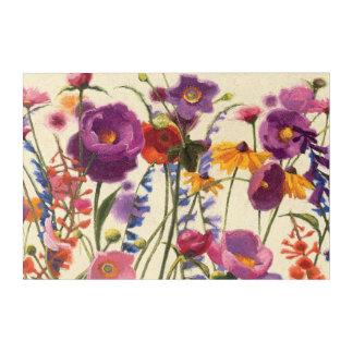 紫色およびオレンジケシのメロディー アクリルウォールアート