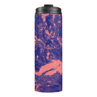 紫色およびオレンジ大理石の質の液体のペンキの芸術 タンブラー