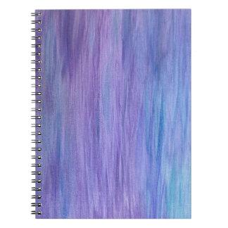 紫色およびターコイズの融合 ノートブック