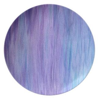 紫色およびターコイズの融合 プレート