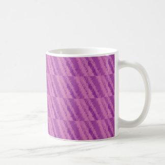 紫色およびピンクの抽象的なパターン コーヒーマグカップ
