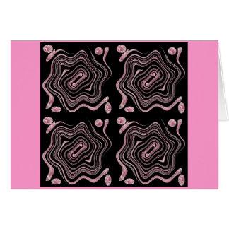 紫色およびピンクの渦巻 カード
