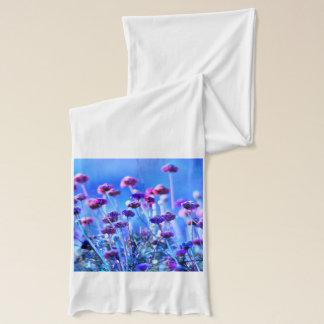 紫色およびピンクの野生の花 スカーフ