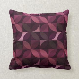 紫色およびプラムモダンパターン クッション