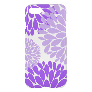 紫色およびラベンダーのダリア iPhone 8/7 ケース