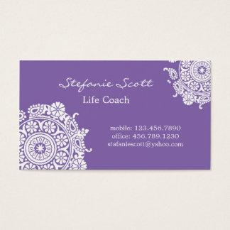 紫色および白いのエレガントな名刺 名刺
