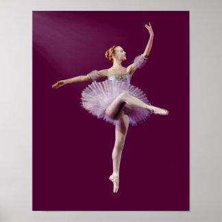 紫色および白いカスタマイズ可能のバレリーナ ポスター