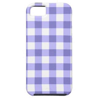 紫色および白いギンガムの点検パターン iPhone 5 CASE