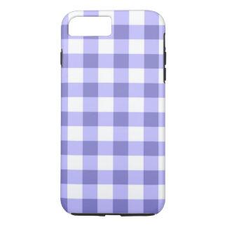 紫色および白いギンガムの点検パターン iPhone 8 PLUS/7 PLUSケース