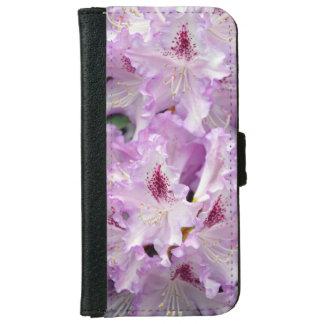 紫色および白いシャクナゲのiphoneのウォレットケース iPhone 6/6s ウォレットケース
