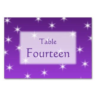 紫色および白い星、パターン カード