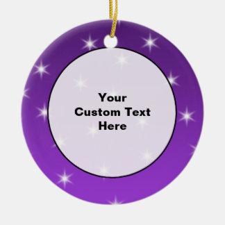 紫色および白い星、パターン セラミックオーナメント