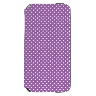 紫色および白い水玉模様パターン INCIPIO WATSON™ iPhone 6 ウォレットケース