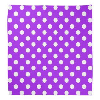 紫色および白い水玉模様 バンダナ