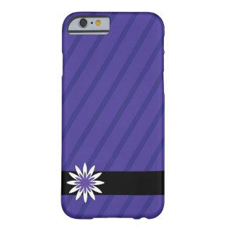 紫色および白い花のストライプな携帯電話の箱 BARELY THERE iPhone 6 ケース