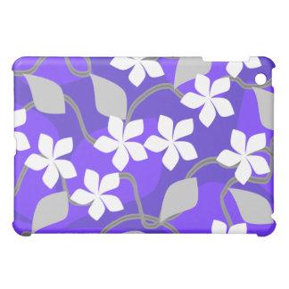 紫色および白い花。 花柄Pern. iPad Miniケース