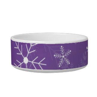 紫色および白い雪片パターン ボウル
