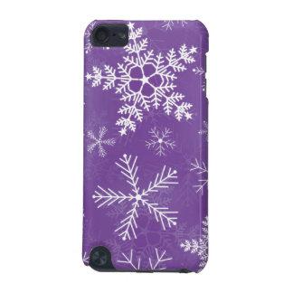 紫色および白い雪片パターン iPod TOUCH 5G ケース