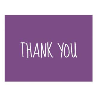 紫色および白は感謝していしています ポストカード