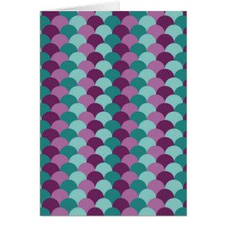 紫色および緑のスケールパターン カード