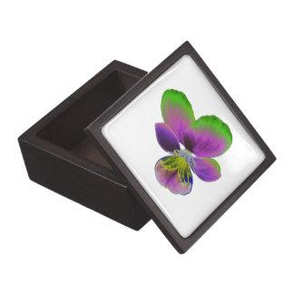 紫色および緑のパンジーの優れたギフト用の箱 ギフトボックス