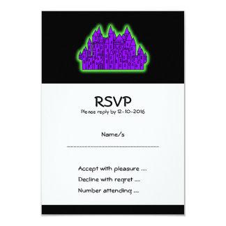 紫色および緑の城 カード