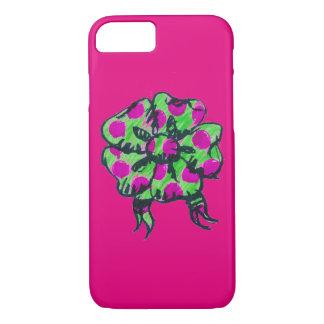 紫色および緑の弓電話箱 iPhone 8/7ケース