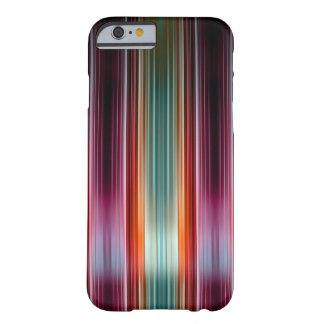 紫色および緑の縞模様 BARELY THERE iPhone 6 ケース