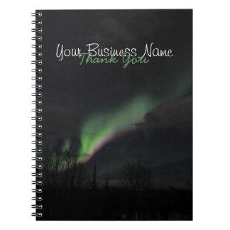紫色および緑ABPAGのオーロラBorealis ノートブック