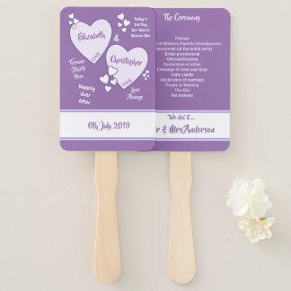 紫色および薄紫の結婚 ハンドファン