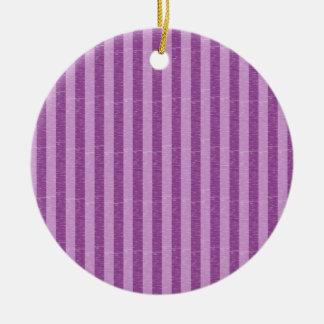 紫色および薄紫縞で飾ります セラミックオーナメント