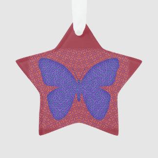 紫色および赤い蝶 オーナメント