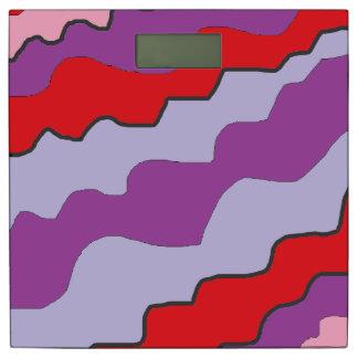 紫色および赤の抽象的でモダンな体重計 体重計
