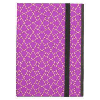 紫色および金ゴールドイスラム教パターンPowisのiPadの場合 iPad Airケース
