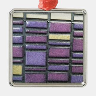 紫色および青のセラミックタイルはリミックスします メタルオーナメント