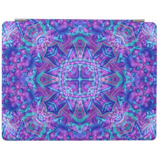 紫色および青の万華鏡のように千変万化するパターンのiPadの頭が切れるなカバー iPadスマートカバー