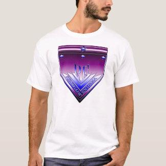 紫色および青の反逆するエニグマの頂上 Tシャツ