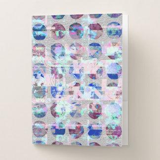 紫色および青の抽象的な紙吹雪の水玉模様 ポケットフォルダー