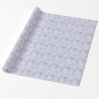 紫色および青の花の破烈のデザイン ラッピングペーパー