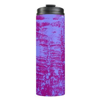 紫色および青の芸術的で熱くか冷たい飲み物のキャリア タンブラー
