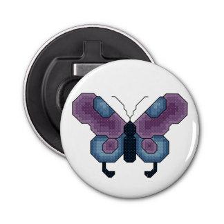 紫色および青の蝶 栓抜き
